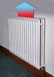 Ordinary Radiator heat lost upwards